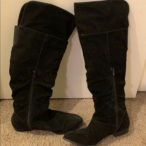 Style & Co Shoes - Black Suede Knee High Boots